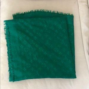 LV monogram shawl